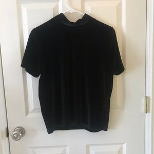 Madewell black velvet top